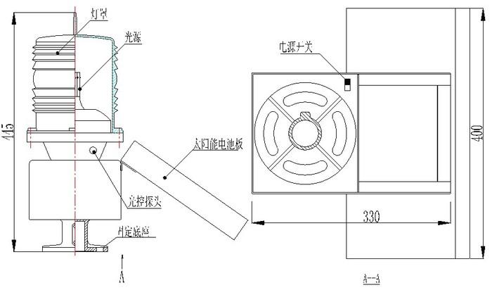特别对于电力高压输电铁塔应用单体太阳能无线时钟障碍灯不仅能使每
